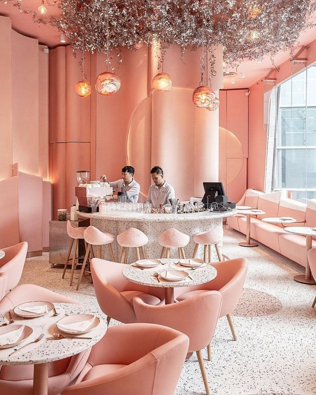 Saturday Is In Peach House Of Eden Cafe In Bangkok Via