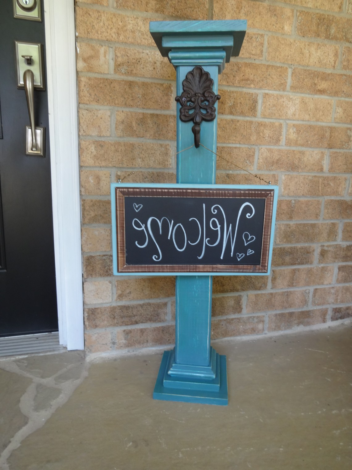 Sign Post With Chalkboard Sign Can Say Anything To