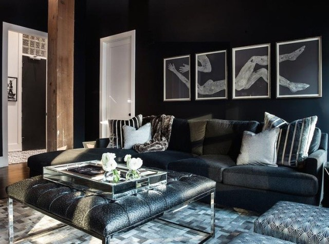 Simple Black Living Room Ideas To Inspire Home Interiors