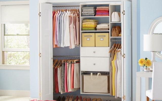 Small Closet Organization The Home Depot