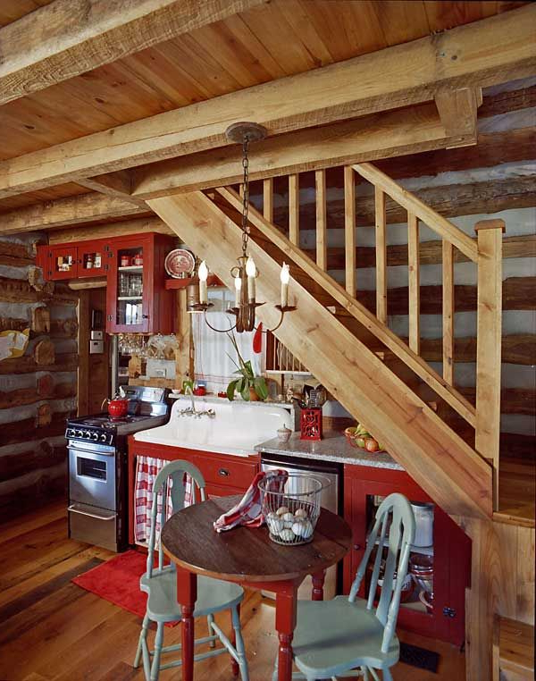 Southern Vintage Log Cabin Kitchens Cabin Kitchens