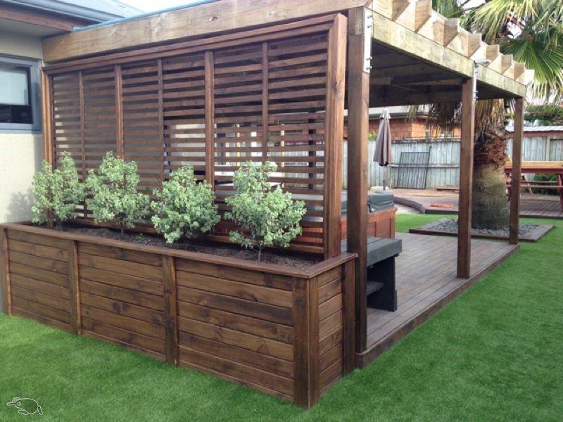 Spa Trellis Planter Trade Me Small Backyard Design