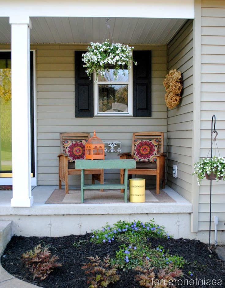 Spring Front Porch Love The Little Table Small Porch