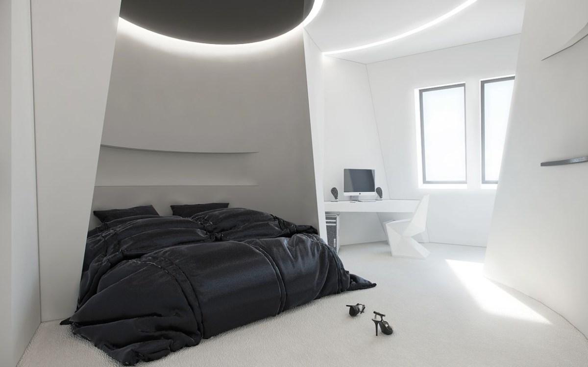 Studio Apartment Design Inspiration With Futuristic