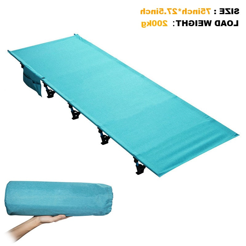 Sturdy Comfortable Portable Folding Camp Bed Cot Sleeping