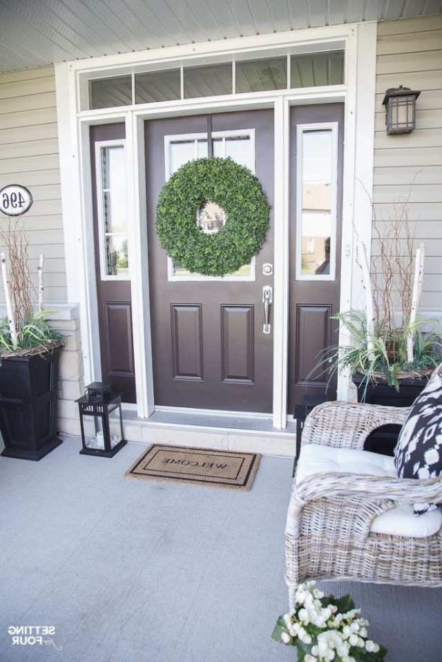 Summer Front Porch Decor Ideas Setting For Four