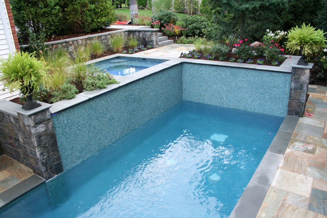 Swimming Pool Landscaping Ideas Pictures Waterfall Rocks