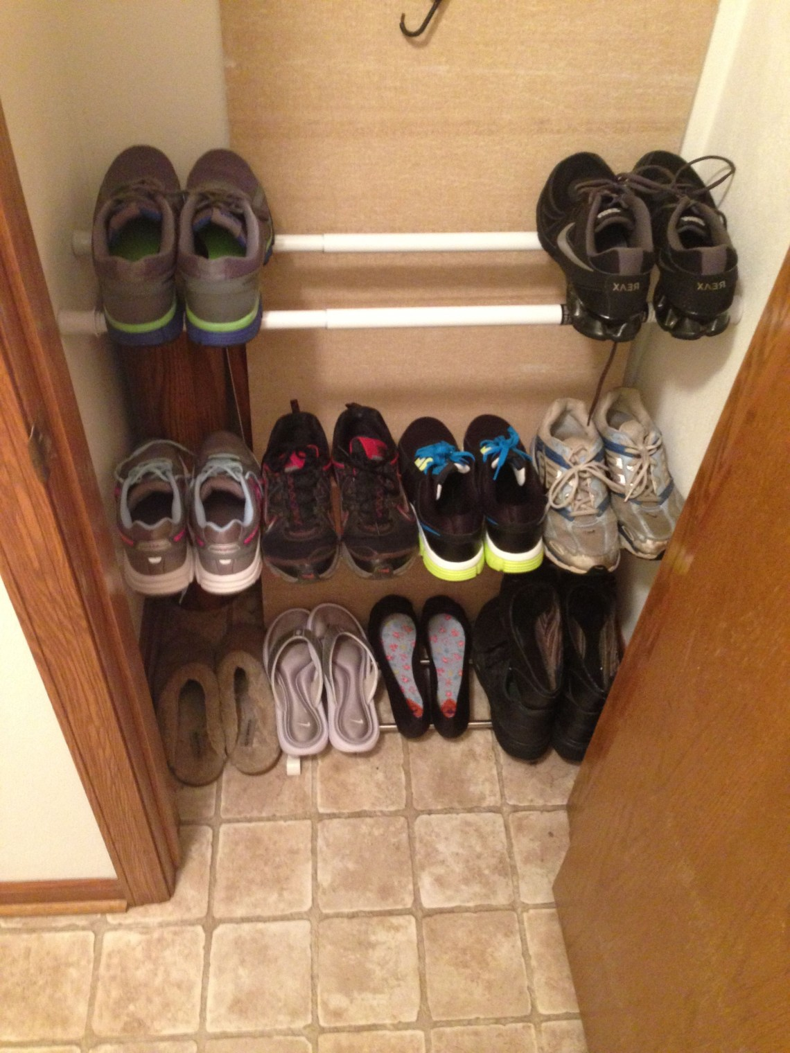 Tension Rods As A Shoe Rack Works Amazing In 2019