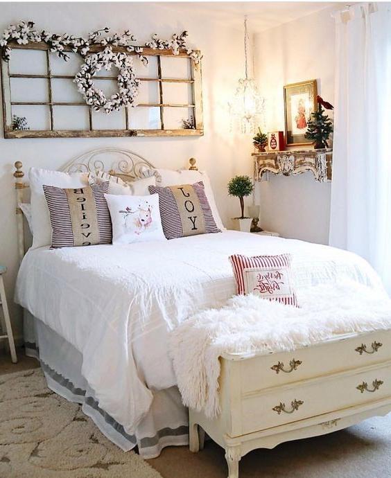 The Christmas Farmhouse Style Bedroom Ideas 33 Farmhouse