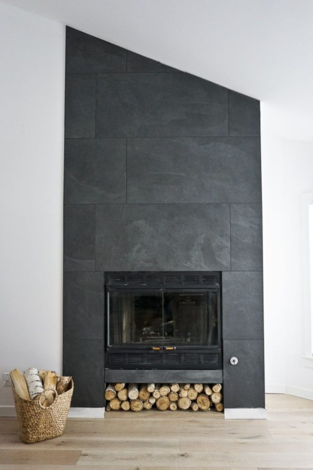 The Ravine Houses Finished Fireplace Fireplace Tile