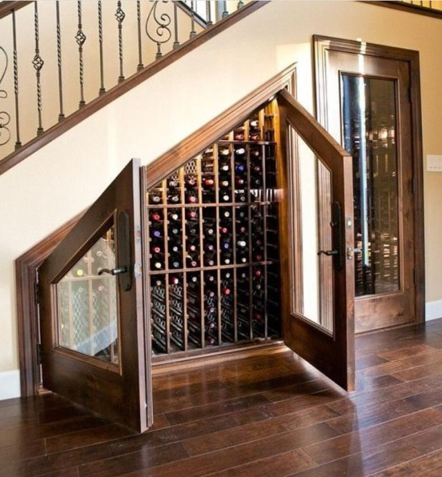 This Is A Neat Idea Home Wine Cellars Under Stairs