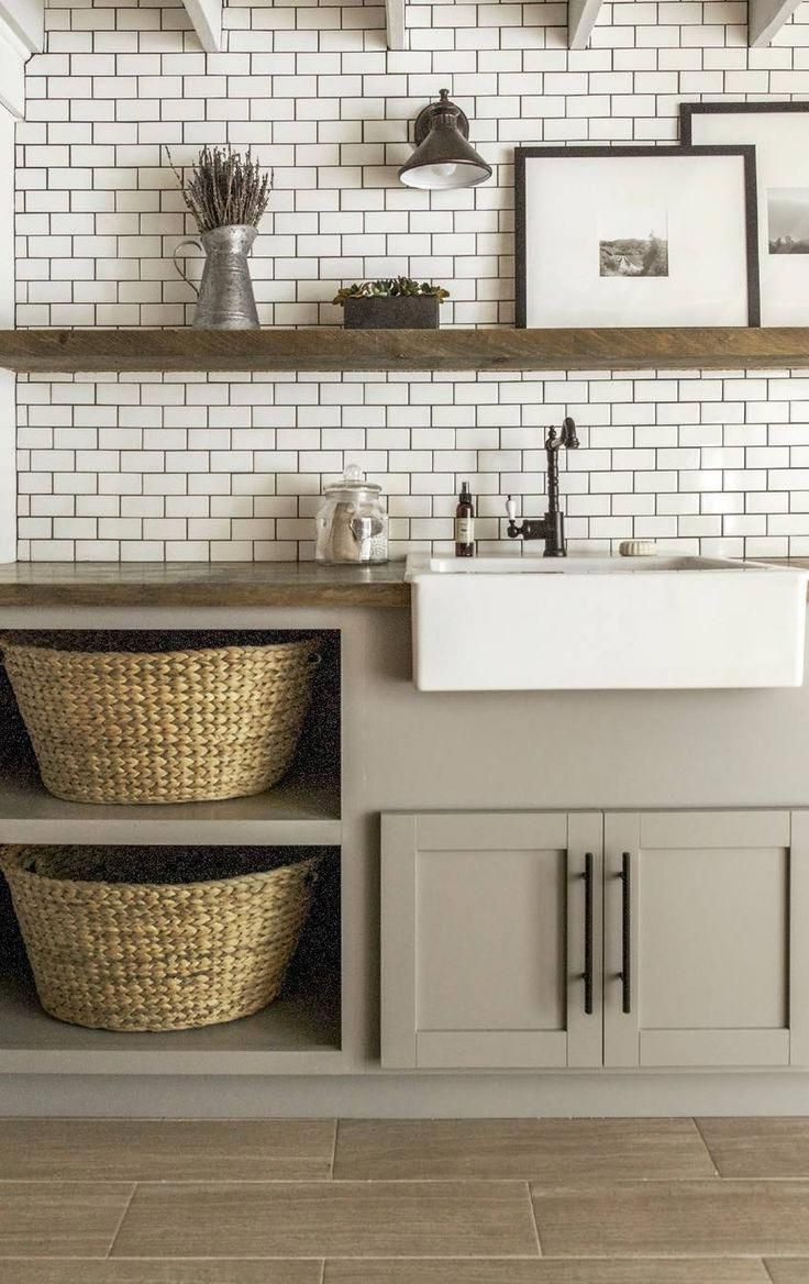 Tiled And Greige Laundry Room Laundryroomtransformation