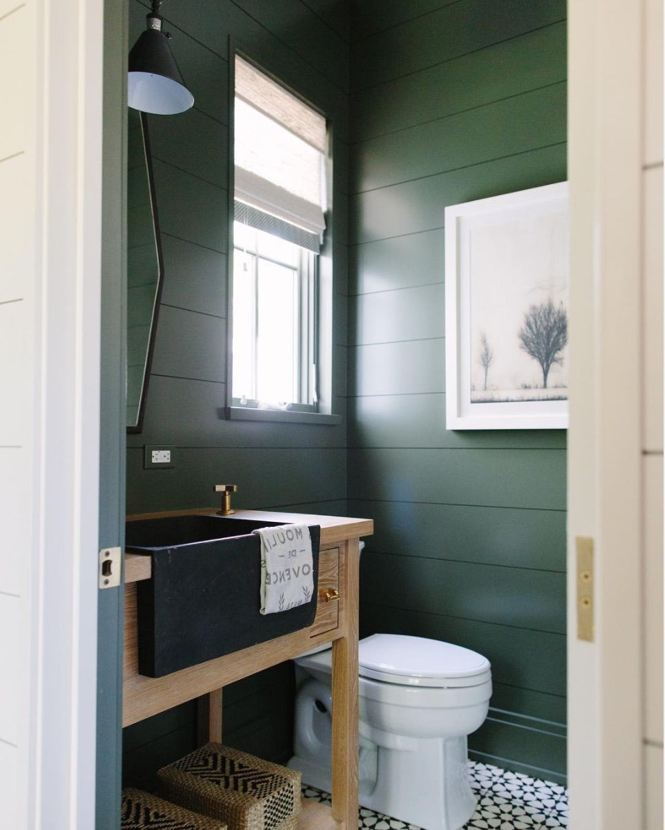 Trend For 2017 Dark Green Green Bathroom Paint