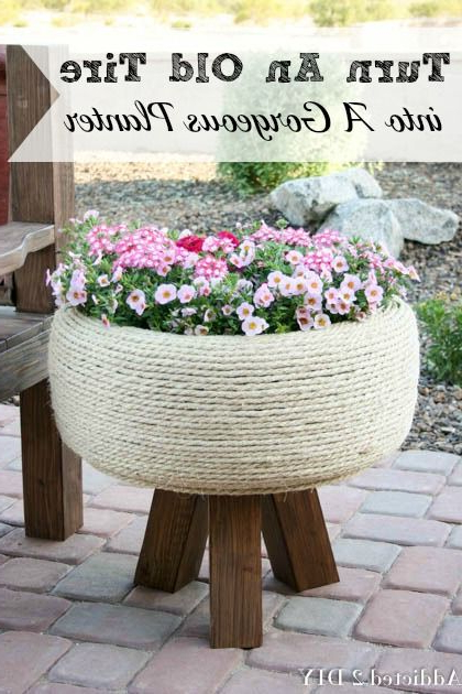 Turn An Old Tire Into A Gorgeous Planter Garden Projects