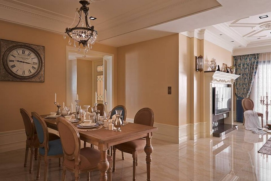 Tuscan Giorno Gorgeous Neo Classical Apartment In Beige Blue Home Interior Design