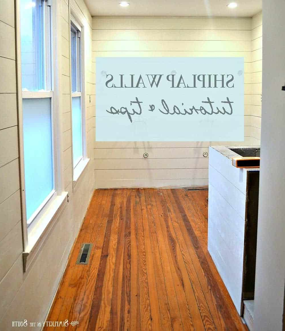 Tutorial And Tips For Using Shiplap Walls In The Bathroom