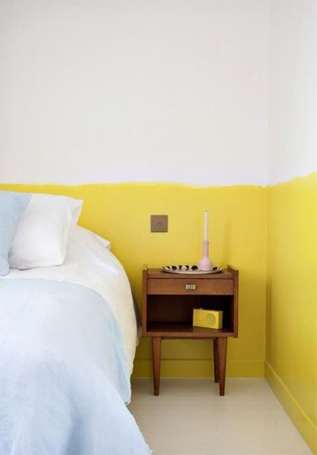 Two Color Wall Painting Ideas For Beautiful Bedroom