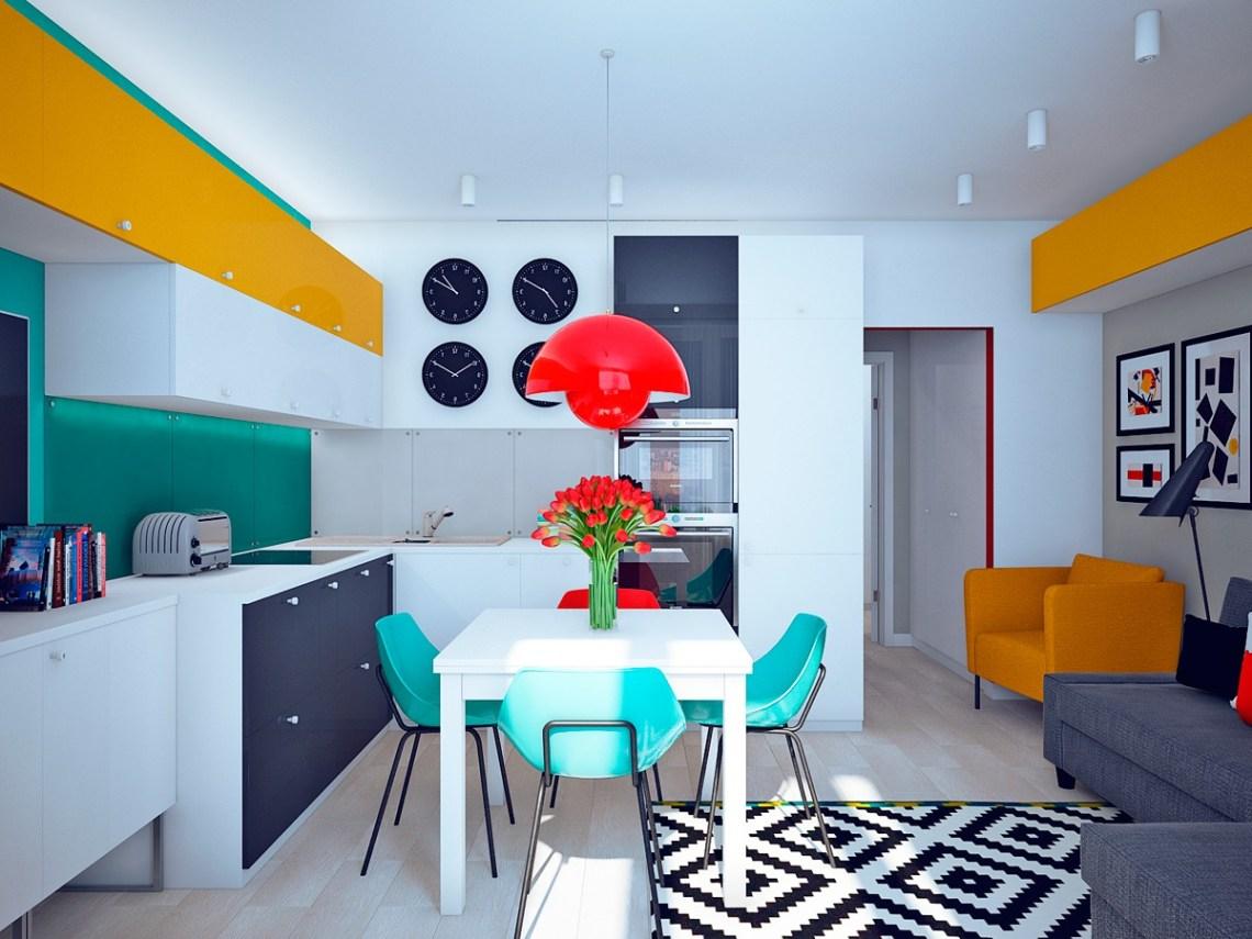 Unique Studio Apartment Design With Different Style In