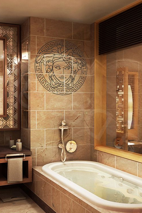 V1llain Versace Bathroom Interiority More Bathroom