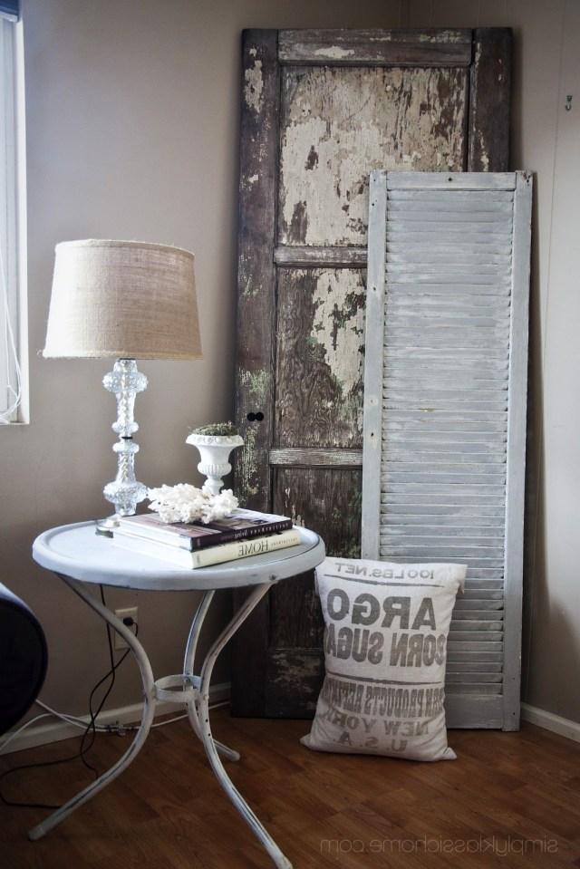 Vintage Corner Display Old Door Shutter Keep Thinking