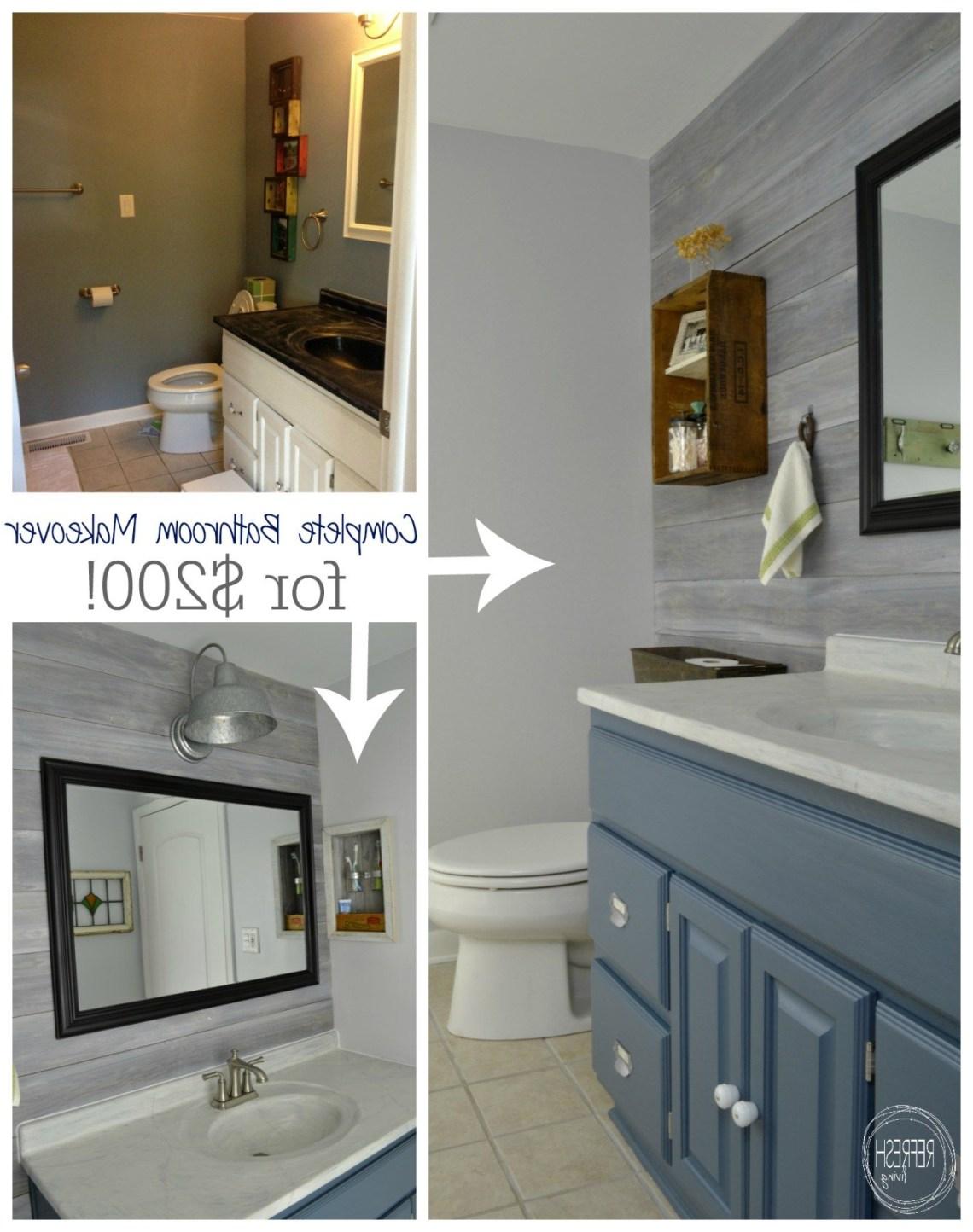 Vintage Rustic Industrial Bathroom Reveal Cheap Bathroom