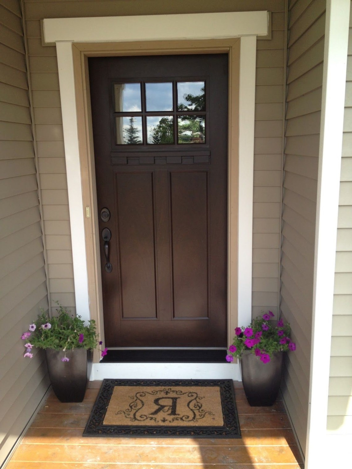 We Can Paint Our Front Door Chestnut And Then Add A New