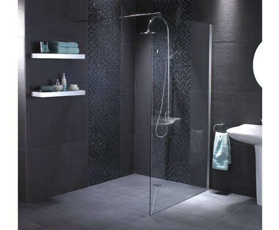 Wet Floor And Single Glass Panel For Shower In Ensuite