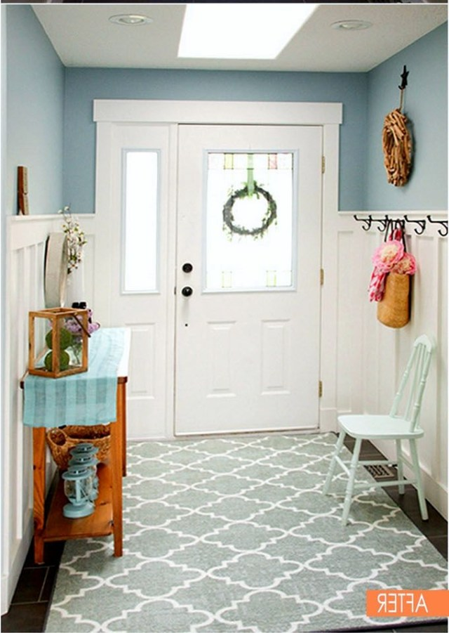 White Wainscoting Can Make A Small Entryway Look Feel