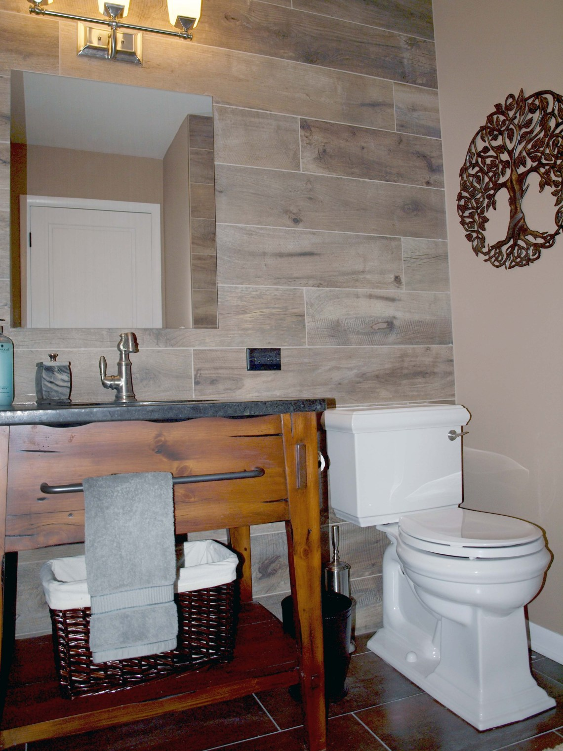 Wood Look Tile On Walls Wood Tile Bathroom Tile Accent