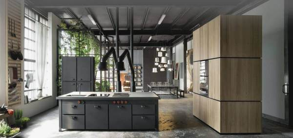 Modern Industrial Kitchen Island
