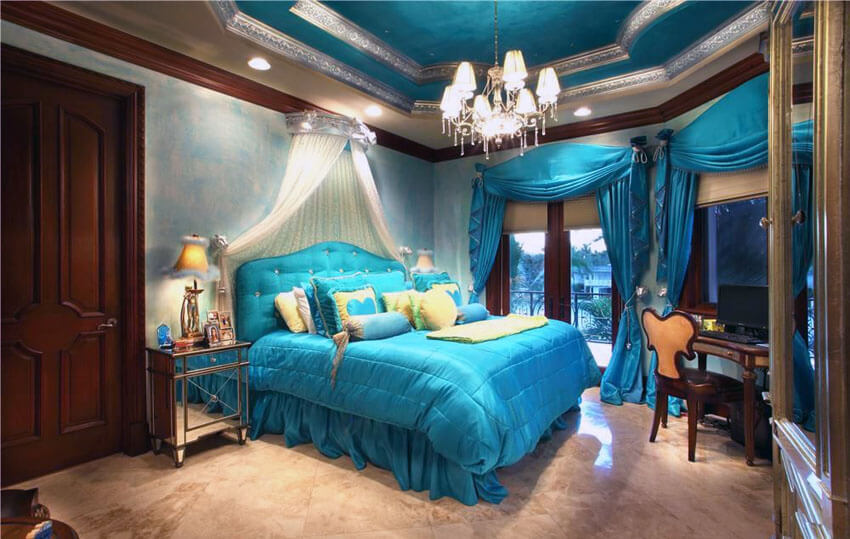 25 Teal Bedroom Ideas Photo Gallery Colors Options
