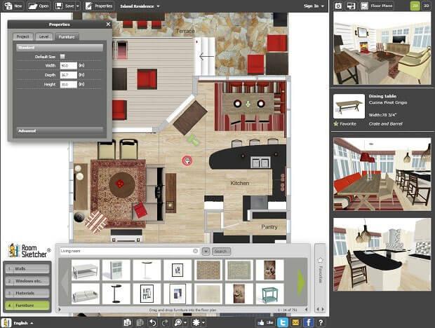 Top 10 floor plan design software for Online floor plan tool