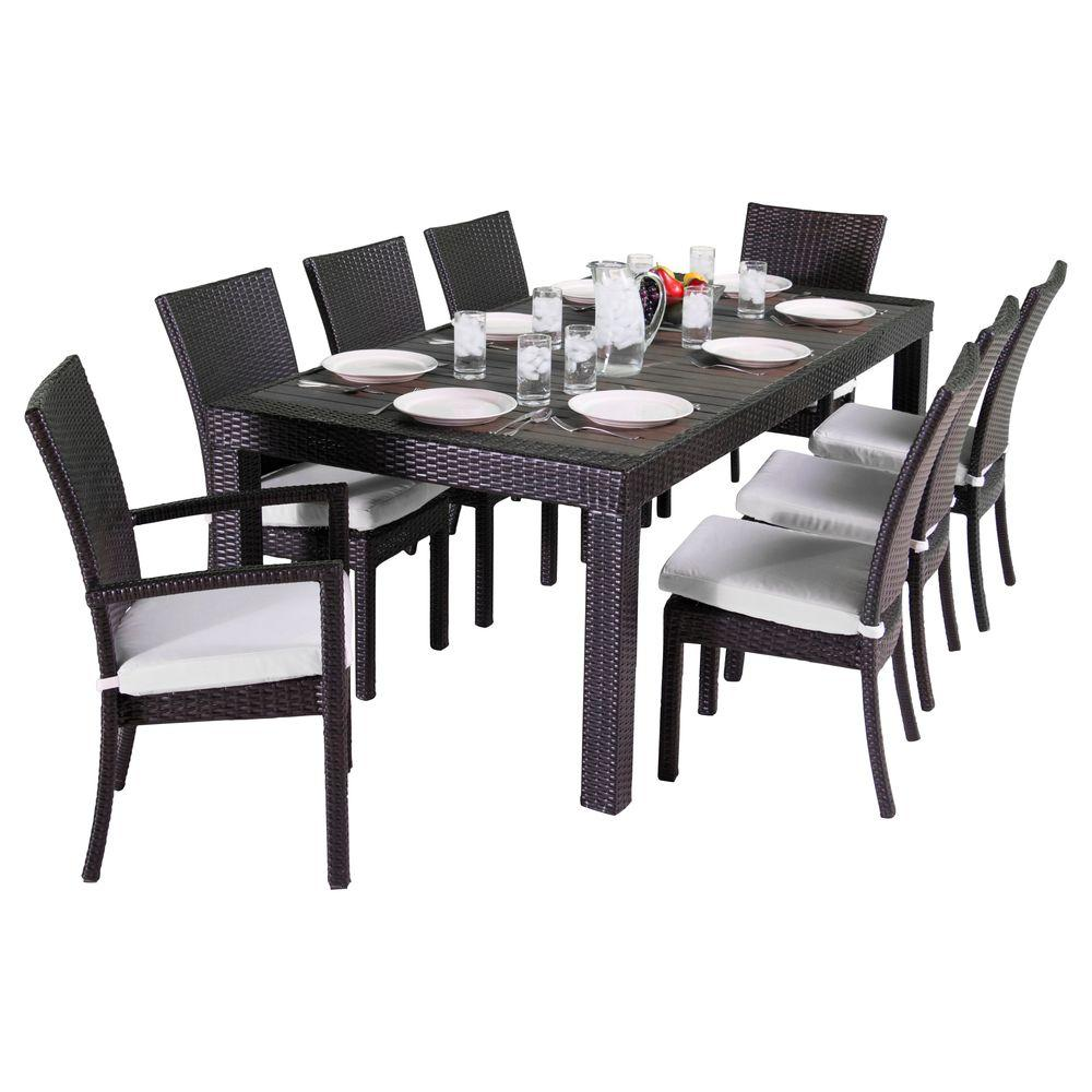 Rst Brands Deco 9piece Patio Dining Set With Moroccan