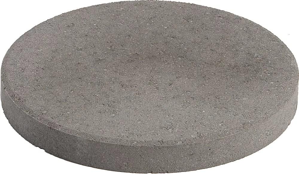 patio round 12 inch gray