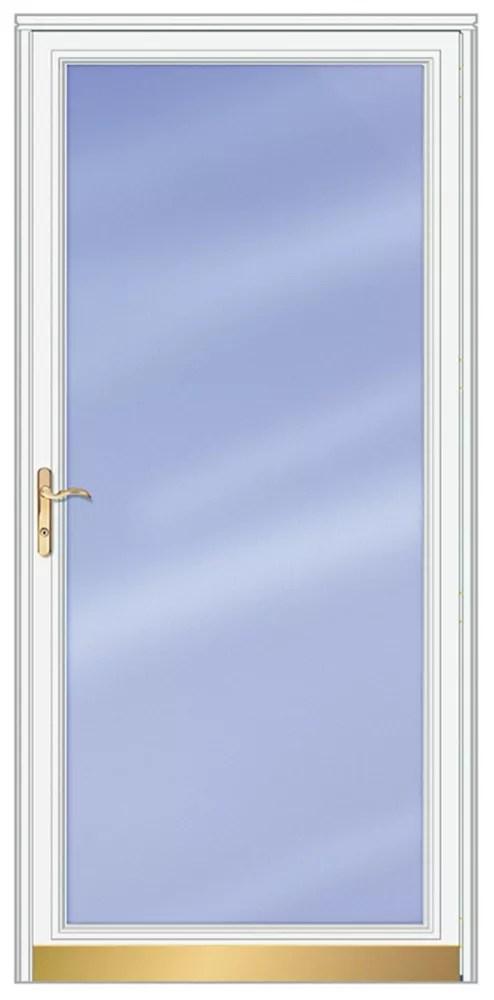 36 inch w 3000 series fullview white screen door with brass hardware