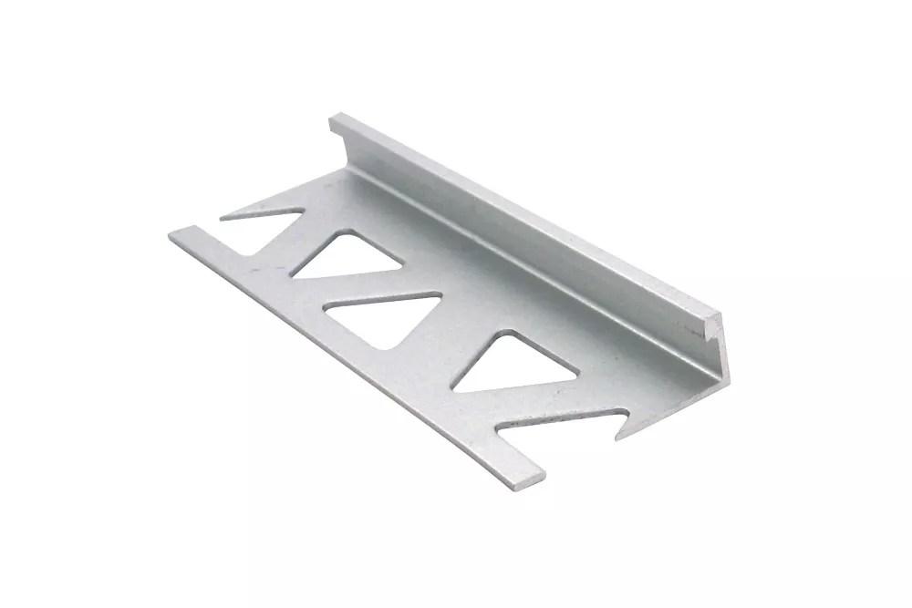 ceramic aluminum tile edge satin clear 5 16 inch 8mm
