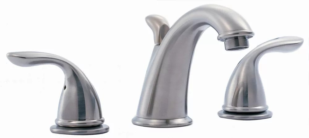 3000 series widespread 8 inch 2 lever low arc bathroom faucet in brushed nickel
