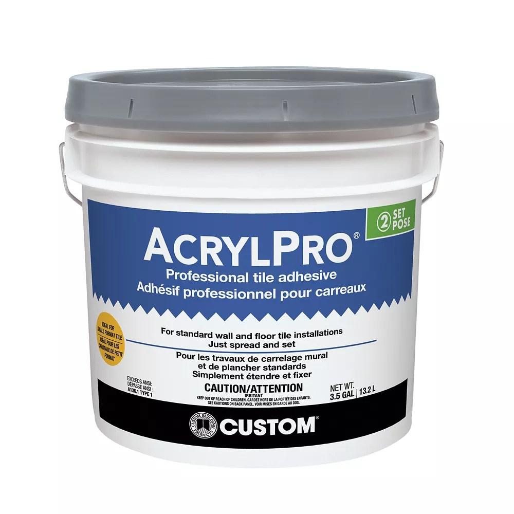acrylpro ceramic tile adhesive type i 3 5 gallon