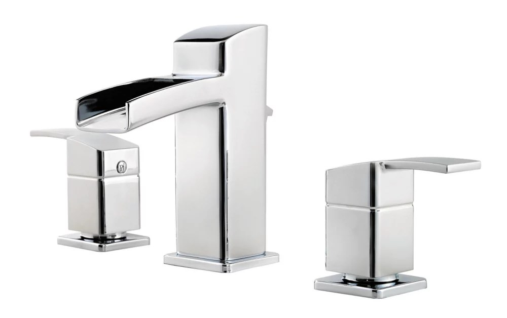 kamato widespread 8 inch 2 lever high arc waterfall flow bathroom faucet in chrome