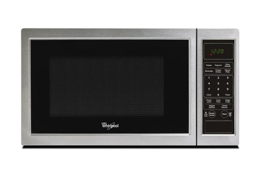 0 9 cu ft countertop microwave in stainless steel