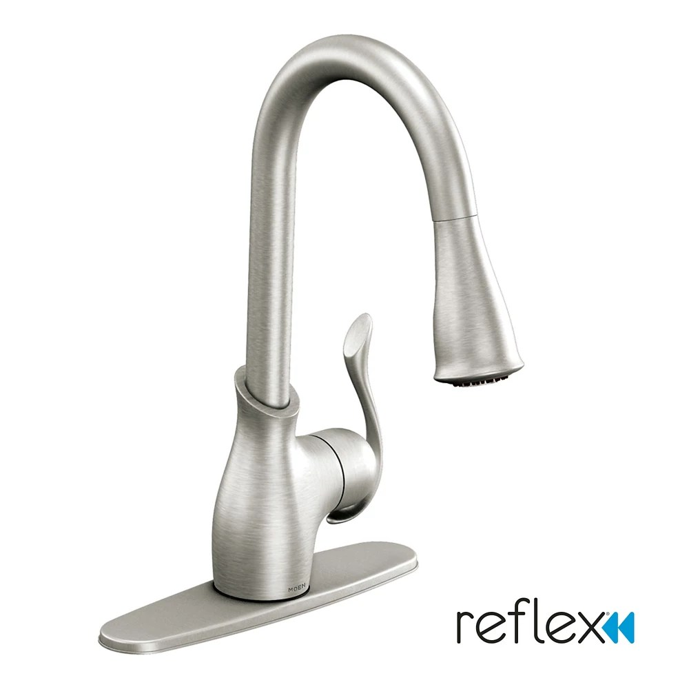 boutique single handle pull down sprayer kitchen faucet with power clean tm in spot resist stainless