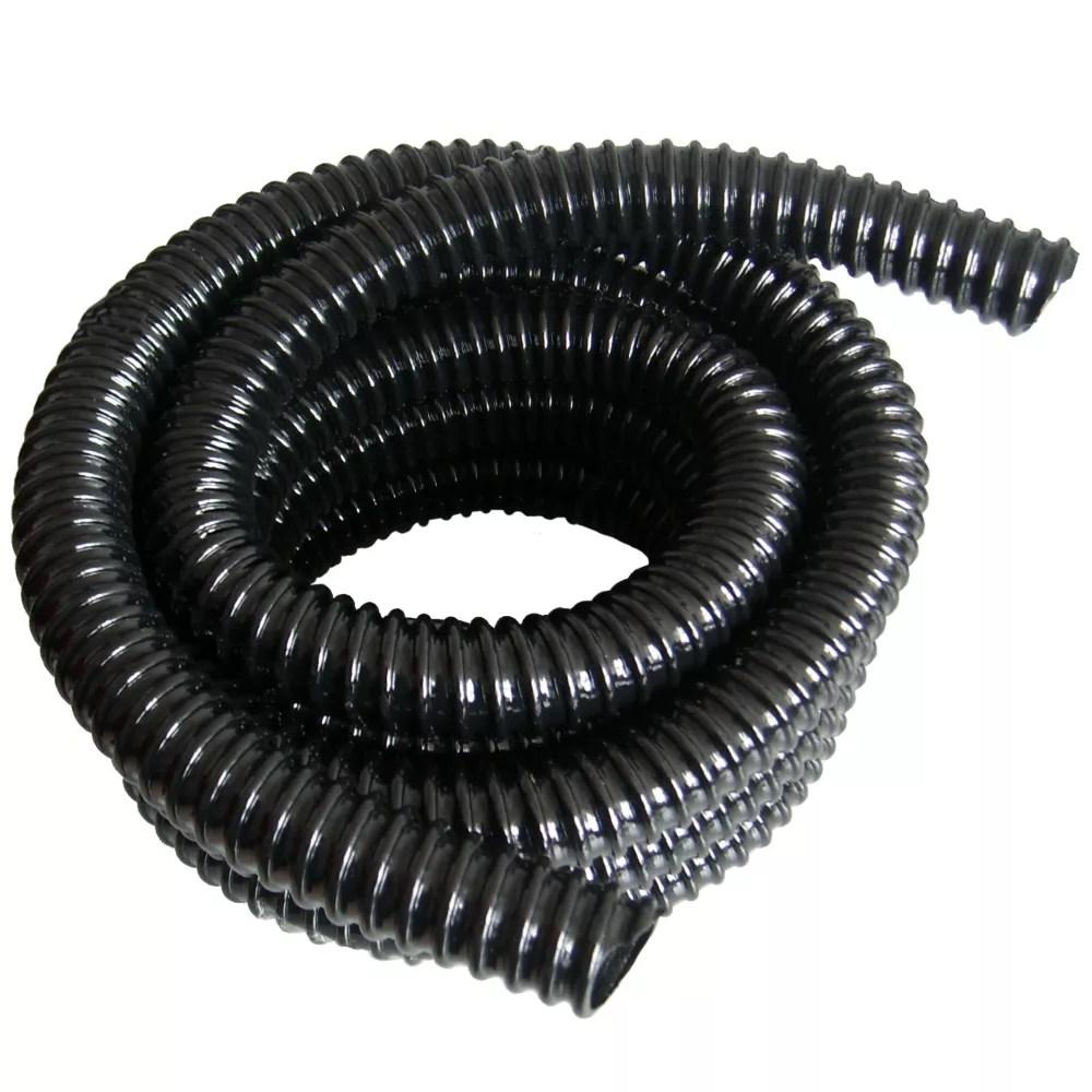 tuyau renforce pour bassin de 5 m et 25mm diametre interieur anti nud noir