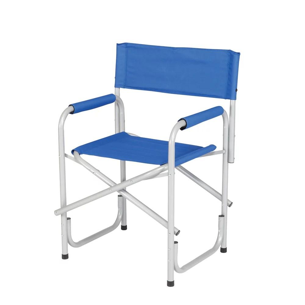 fauteuil metteur en scene fini argente