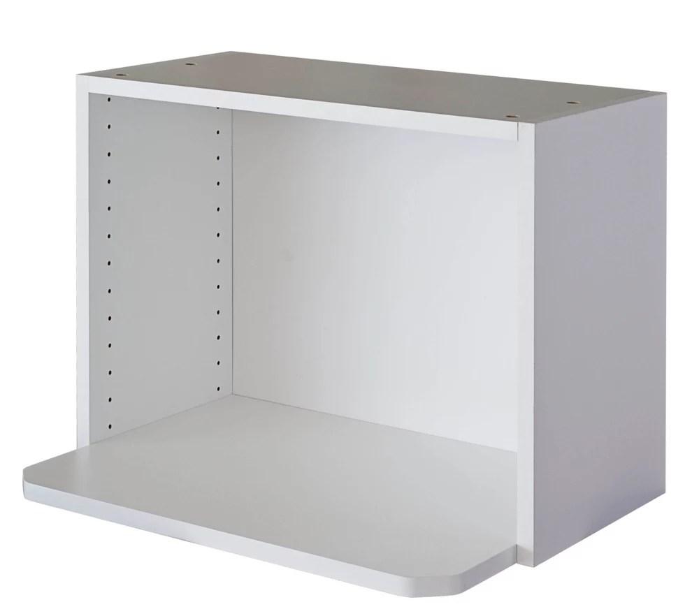microwave cabinet 24 x 17 5 8 melamine white