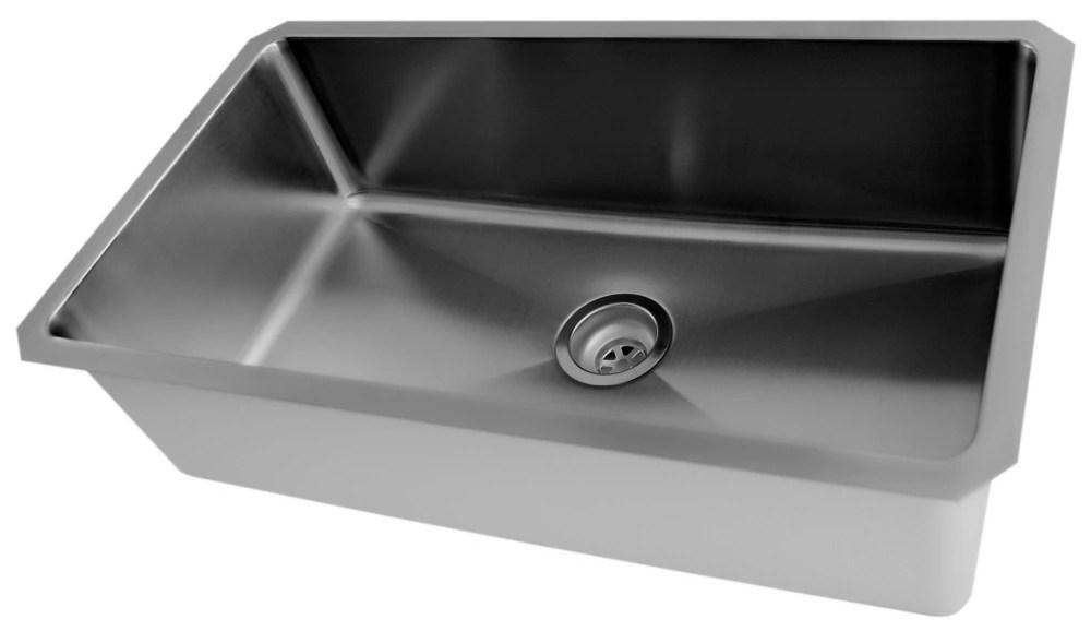 30 x 18 stainless steel undermount kitchen sink with small radius corners