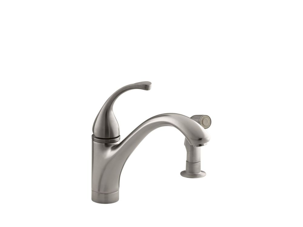 Learn how your faucet choice can enhance the kitchen's design. KOHLER Forté Single-Control Kitchen Sink Faucet With ...