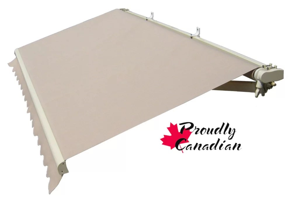 16 ft motorized retractable patio awning 11 ft 8 inch projection in solid beige