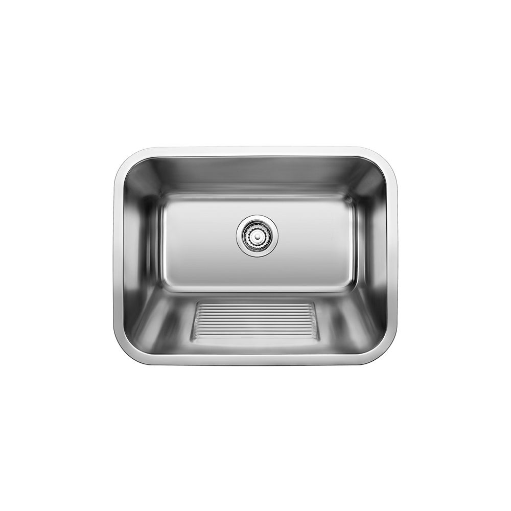 stainless steel laundry tub 1 bowl top mount