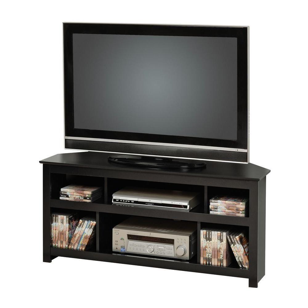 meuble dangle vasari pour televiseur a ecran plat plasma ou acl noir