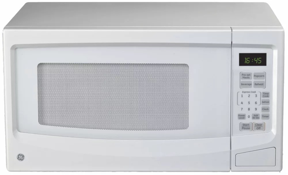 1 1 cu ft countertop microwave oven in white